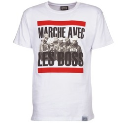 tekstylia Męskie T-shirty z krótkim rękawem Wati B BOSS Biały