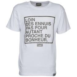 tekstylia Męskie T-shirty z krótkim rękawem Wati B LOIN Biały