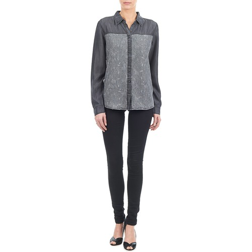 Esprit Denim Blouse Szary - Bezpłatna Dostawa- Tekstylia Koszule Damskie 15450 Najniższa Cena