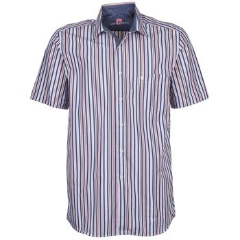 tekstylia Męskie Koszule z krótkim rękawem Pierre Cardin 514636216-184 Niebieski / Różowy