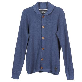 tekstylia Męskie Swetry rozpinane / Kardigany Marc O'Polo ROQUE Niebieski