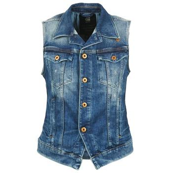 tekstylia Damskie Kurtki jeansowe G-Star Raw 3302 JKT S/LESS WMN Niebieski / CLAIR