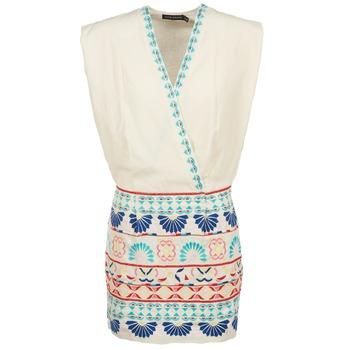 tekstylia Damskie Sukienki krótkie Antik Batik POLIN Biały / Wielokolorowe
