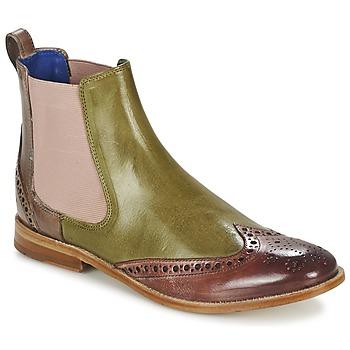 Buty Damskie Buty za kostkę Melvin & Hamilton AMÉLIE 5 Zielony / Różowy / Beżowy