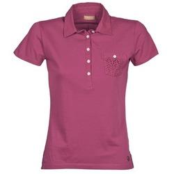 tekstylia Damskie Koszulki polo z krótkim rękawem Napapijri EZE Różowy