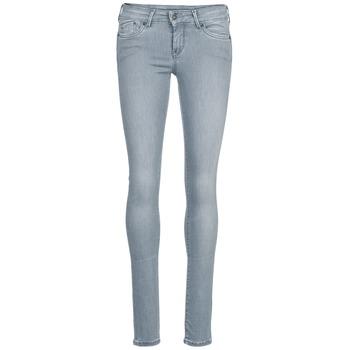 tekstylia Damskie Jeansy slim fit Pepe jeans PIXIE Szary