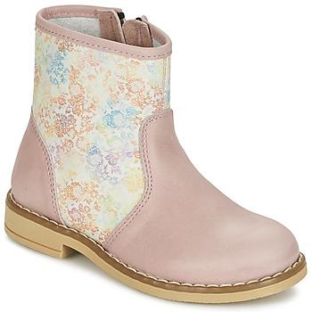 Buty Dziewczynka Buty za kostkę Citrouille et Compagnie OUGAMO LIBERTY Różowy