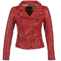 tekstylia Damskie Kurtki skórzane / z imitacji skóry Oakwood 60861 Czerwony