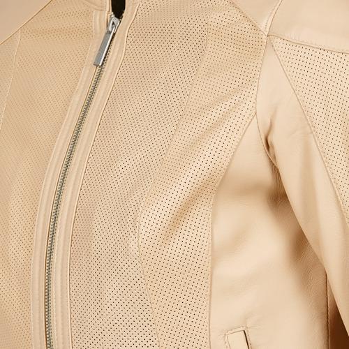 Oakwood 61848 Beżowy / Nude - Bezpłatna Dostawa- Tekstylia Kurtki Skórzane Z Imitacji Skóry Damskie 52450 Najniższa Cena