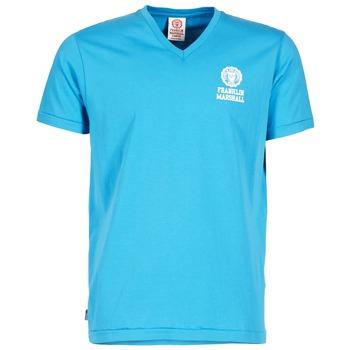 tekstylia Męskie T-shirty z krótkim rękawem Franklin & Marshall DOBSON Niebieski