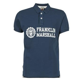 tekstylia Męskie Koszulki polo z krótkim rękawem Franklin & Marshall AYLEN MARINE