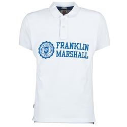 tekstylia Męskie Koszulki polo z krótkim rękawem Franklin & Marshall AYLEN Biały