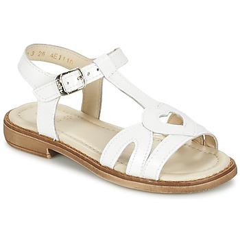 Buty Dziewczynka Sandały Aster TCHANIA Biały