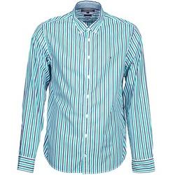 tekstylia Męskie Koszule z długim rękawem Tommy Hilfiger KELL STP NF2 Niebieski / Zielony