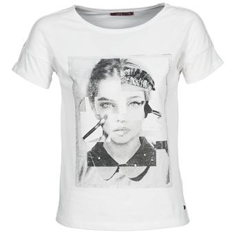tekstylia Damskie T-shirty z krótkim rękawem Esprit NEW PRINT SHIRT Biały