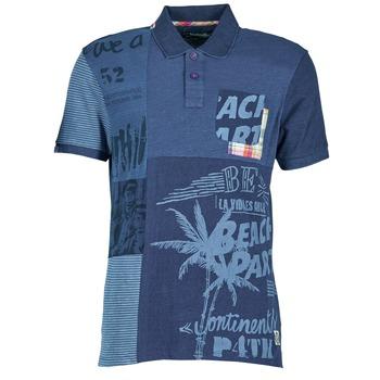 tekstylia Męskie Koszulki polo z krótkim rękawem Desigual BELUDINE Niebieski