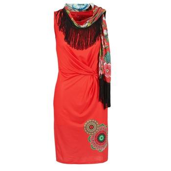 tekstylia Damskie Sukienki krótkie Desigual USIME Czerwony