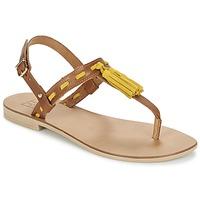 Buty Damskie Sandały Betty London ELOINE Brązowy / Żółty