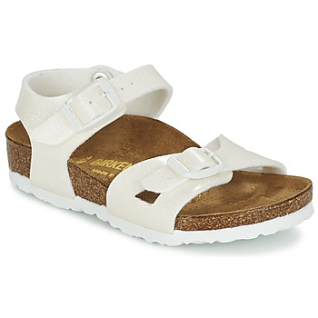 Buty Dziewczynka Sandały Birkenstock RIO Biały