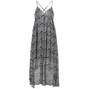 tekstylia Damskie Sukienki długie Le Temps des Cerises LUNE Czarny / Biały
