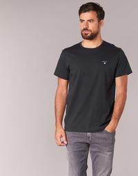 tekstylia Męskie T-shirty z krótkim rękawem Gant THE ORIGINAL SOLID T-SHIRT Czarny