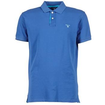 tekstylia Męskie Koszulki polo z krótkim rękawem Gant CONTRAST COLLAR PIQUE Niebieski