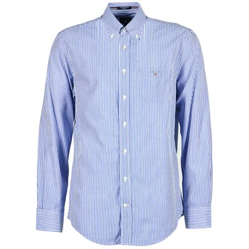 tekstylia Męskie Koszule z długim rękawem Gant THE POPLIN BANKER STRIPE Niebieski