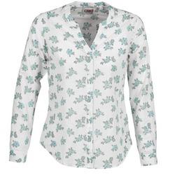 tekstylia Damskie Koszule Mustang FLOWER BLOUSE Biały / Niebieski