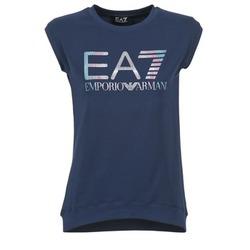 tekstylia Damskie T-shirty z krótkim rękawem Emporio Armani EA7 ANDROUL MARINE