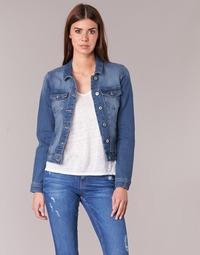 tekstylia Damskie Kurtki jeansowe Only NEW WESTA Niebieski