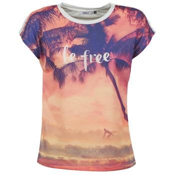 tekstylia Damskie T-shirty z krótkim rękawem Only BE FREE SUMMER Wielokolorowe