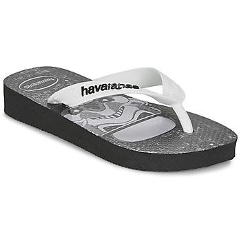 Buty Chłopiec Japonki Havaianas STAR WARS Czarny / Biały