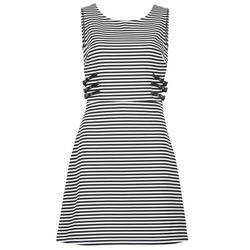 tekstylia Damskie Sukienki krótkie Morgan RMARI MARINE / ECRU