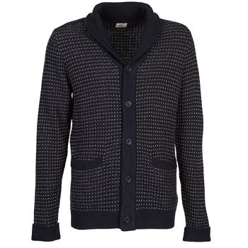 tekstylia Męskie Swetry rozpinane / Kardigany Lee SHAWL CARDIGAN Niebieski