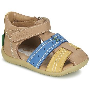 Buty Chłopiec Sandały Kickers BIGBAZAR Beżowy / Niebieski / żółty