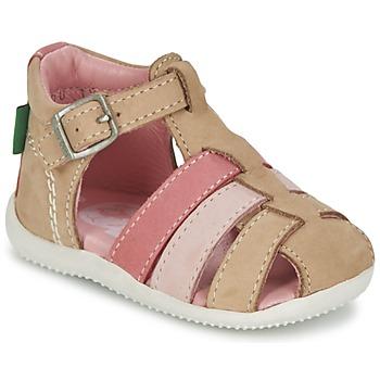 Buty Dziewczynka Sandały Kickers BIGFLY Beżowy / Różowy