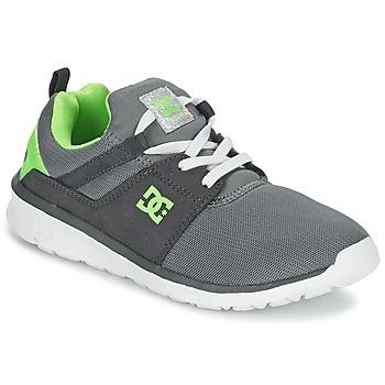 Buty Chłopiec Trampki niskie DC Shoes HEATHROW Szary / Biały / Zielony