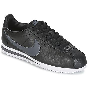 Buty Męskie Trampki niskie Nike CLASSIC CORTEZ LEATHER Czarny / Szary