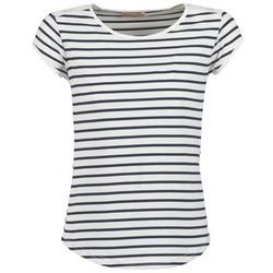 tekstylia Damskie T-shirty z krótkim rękawem Moony Mood EIYA Biały / Niebieski