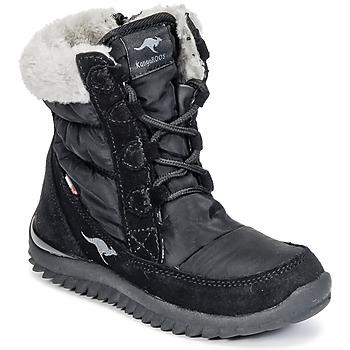 Buty Dziewczynka Śniegowce Kangaroos CUPY JUNIOR Czarny