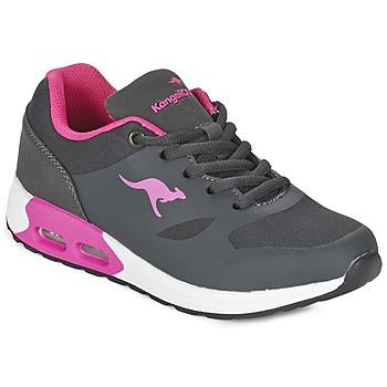 Buty Dziewczynka Trampki niskie Kangaroos KANGA X Szary / Różowy
