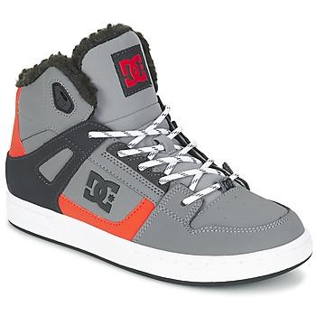 Buty Dziecko Trampki wysokie DC Shoes REBOUND WNT B SHOE XSKN Szary / Czarny / Pomarańczowy