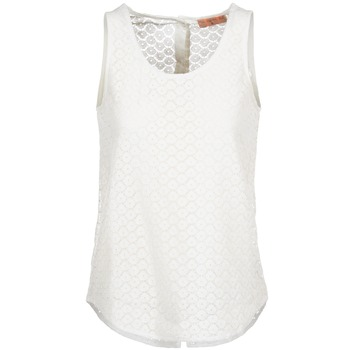 tekstylia Damskie Topy na ramiączkach / T-shirty bez rękawów Moony Mood IGUOHIAVINE Biały