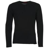 tekstylia Męskie T-shirty z długim rękawem BOTD ETUNAMA Czarny