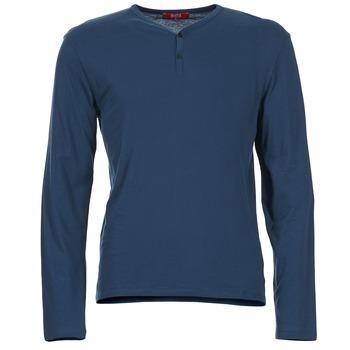 tekstylia Męskie T-shirty z długim rękawem BOTD ETUNAMA MARINE