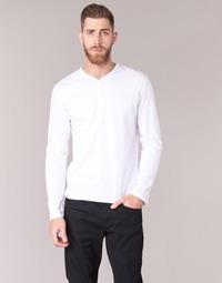 tekstylia Męskie T-shirty z długim rękawem BOTD ETUNAMA Biały
