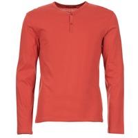 tekstylia Męskie T-shirty z długim rękawem BOTD ETUNAMA Czerwony