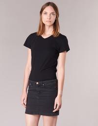 tekstylia Damskie T-shirty z krótkim rękawem BOTD EFLOMU Czarny