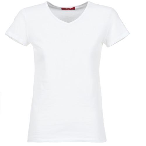 tekstylia Damskie T-shirty z krótkim rękawem BOTD EFLOMU Biały