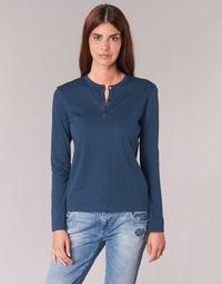 tekstylia Damskie T-shirty z długim rękawem BOTD EBISCOL Marine
